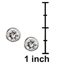 Sterling Essentials Sterling Silver 6-mm Round Cubic Zirconia Studs