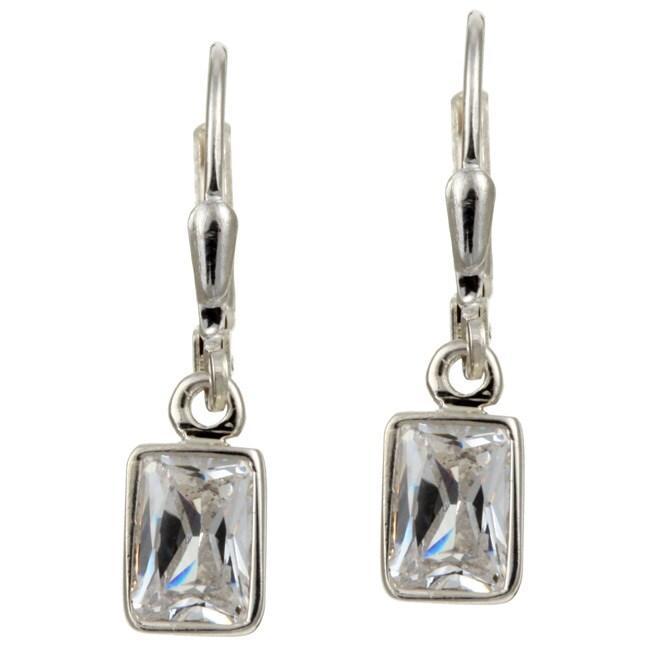 sterling essentials sterling silver emerald cut cubic