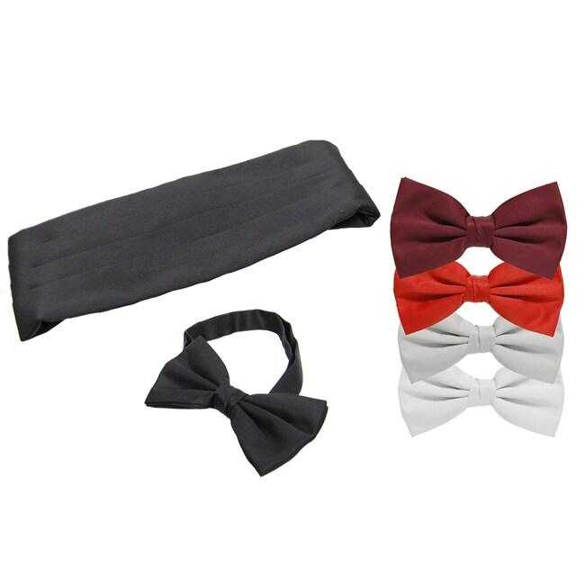 Boston Traveler Bow Tie and Cummerbund Set