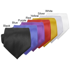 Boston Traveler Solid Microfiber Tie/ Hanky Set