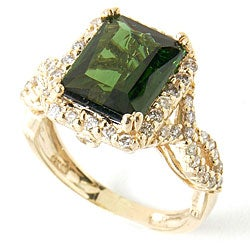 Michael Valitutti 14k Gold Bahia Green Tourmaline Ring