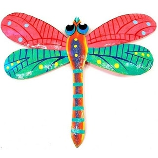 Metal 'Pink Dragonfly' Wall Art (Haiti)