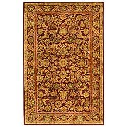 Safavieh Handmade Exquisite Wine/ Gold Wool Rug (4' x 6')