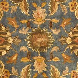 Safavieh Handmade Exquisite Blue/ Gold Wool Rug (8' Square)