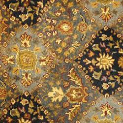 Handmade Tabriz Blue Wool Rug (3'6 Round)