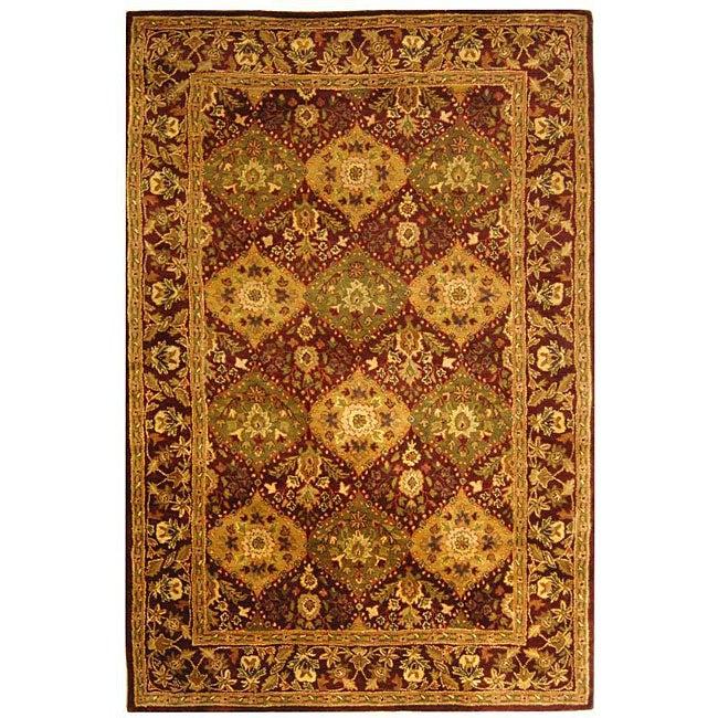 Safavieh Handmade Tabriz Wine Wool Rug (5' x 8')