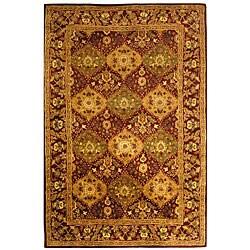 Handmade Tabriz Wine Wool Rug (6' x 9')