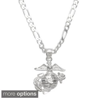 Sterling Essentials Sterling Silver 22-inch Marine Corps Necklace