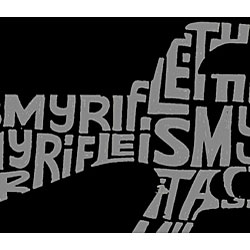 Los Angeles Pop Art Men's 'Rifle' T-shirt