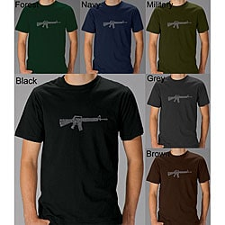 Los Angeles Pop Art Men's 'Rifle' T-shirt