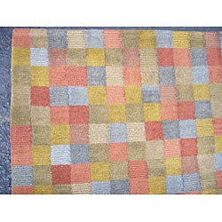 Indo Tibetan Multicolored Area Rug (5' x 8')