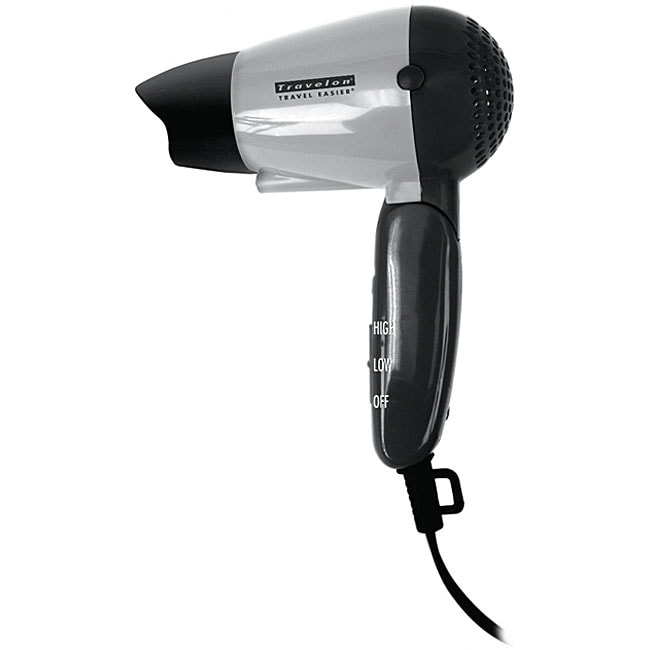 Travelon Compact Foldable Black/Gray Dual-voltage Travel Hair Dryer