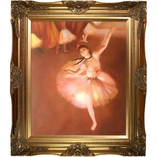 Degas 'Star Dancer on Stage' Hand-painted Oil Canvas Art