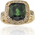 Michael Valitutti 14k Gold Tourmaline/ 1/4ct TDW Diamond Ring (I, SI)