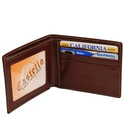 Colombo Men's Black/ Cognac Slim Billfold Wallet