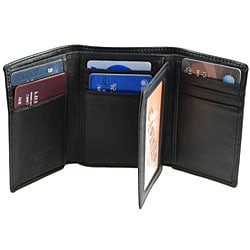 Romano Men's Black Tri-fold Wallet
