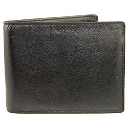 Castello Men's Black Wallet with Two ID Holders
