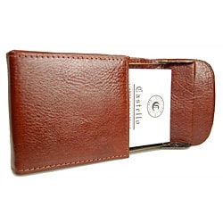 Castello Torino Series Leather Black/Brown Business Card Holder