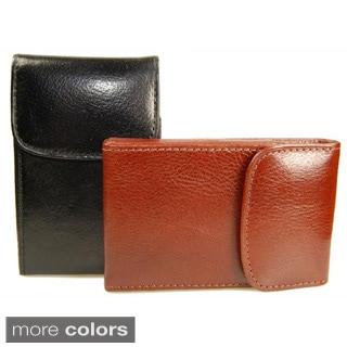 Castello Torino Series Leather Black/Brown Business Card Holder