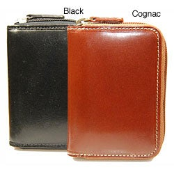 Castello Men's Zip Accordion Leather Wallet