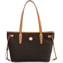 Rioni Signature Small Brown Luxury Tote Bag