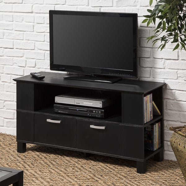 contemporary black wood 44 inch tv stand. Black Bedroom Furniture Sets. Home Design Ideas