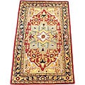 Indo Hand-tufted Heriz Red/ Black Rug (3'3 x 5'3)