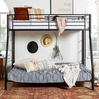 Black Metal Twin Double/Full Bunk Bed