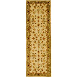 Indo Mahal Hand-Tufted Ivory Runner Rug (2'6 x 8')