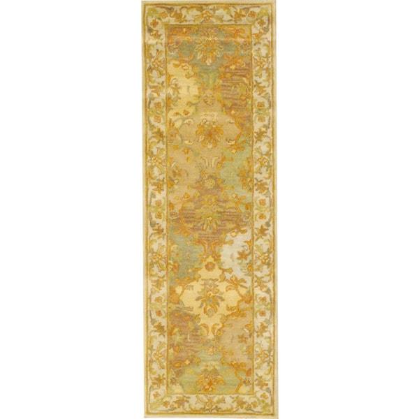 Indo Tabriz Beige Runner Rug (2'6 x 8')