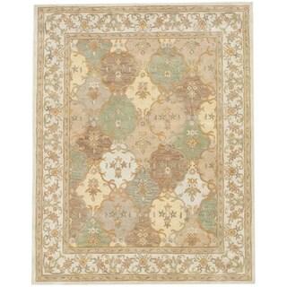 Indo Tabriz Beige/ Ivory Rug (7'3 x 9'3)