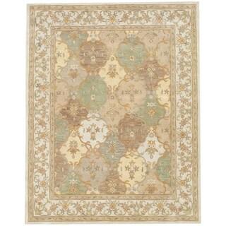 """Handmade Tabriz Wool Rug (India) - 7'3"""" x 9'3"""""""