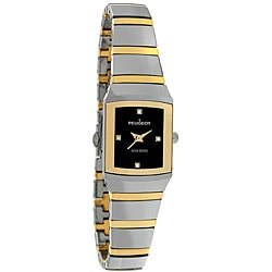 Peugeot Swiss Women's Two-tone Tungsten Carbide Watch