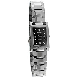 Peugeot Swiss Women's Rectangle Tungsten Carbide Watch