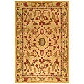 Handmade Craftworks Beige New Zealand Wool Rug (5' x 8')
