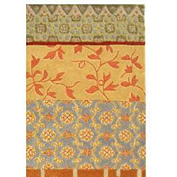 Safavieh Handmade Rodeo Drive Collage Multicolor N.Z. Wool Rug (6' x 9')