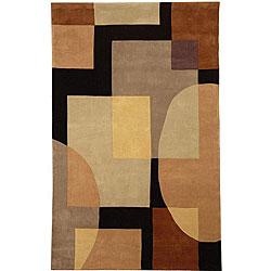Safavieh Handmade Styles Olive/ Black N. Z. Wool Runner (2'6 x 14')