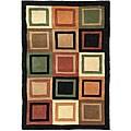 Safavieh Handmade Deco Squares Multi/ Black N. Z. Wool Rug (7' 6