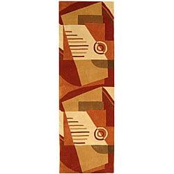 Safavieh Handmade Village Rust/ Multi N. Z. Wool Runner (2'6 x 10')