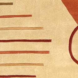 Safavieh Handmade Village Rust N. Z. Wool Rug (7'6 x 9'6)