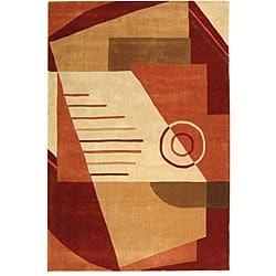 Safavieh Handmade Rodeo Drive Village Rust/ Multi N.Z. Wool Rug (8' x 11')