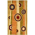 "Handmade Rodeo Drive Zac Sage/ Red N.Z. Wool Rug (2'6"" x 4'6"")"