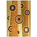 Handmade Rodeo Drive Beige/ Rust New Zealand Wool Rug (3'6 x 5'6)