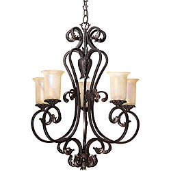 Bronze Finish Windsor Manor 5-light Brindisi Chandelier