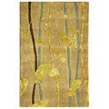 Handmade Rodeo Drive Parad Ivory/ Gold N.Z. Wool Rug (2' x 3')