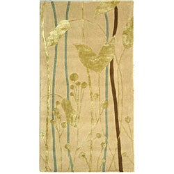 Safavieh Handmade Rodeo Drive Parad Ivory/ Gold N.Z. Wool Rug (2'6 x 4'6)
