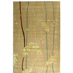 Safavieh Handmade Rodeo Drive Parad Ivory/ Gold N.Z. Wool Rug (6' x 9')