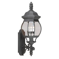 Black Cast Aluminum 3-light Outdoor Wall Lantern