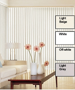 Solid Vinyl Vertical Blinds (64 in. W x Custom Length)