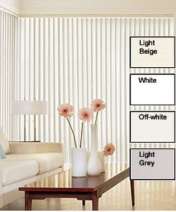 Solid Vinyl Vertical Blinds (74 in. W x Custom Length)